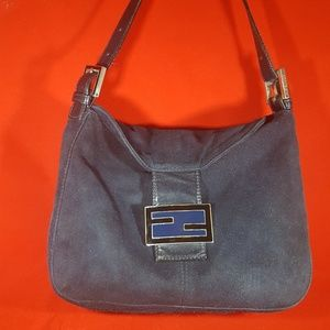 Authentic Fendi suede handbag